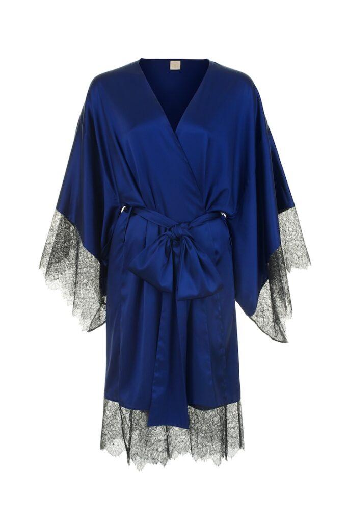Eleanor Indigo Kimono - Anya Lust Luxury Lingerie