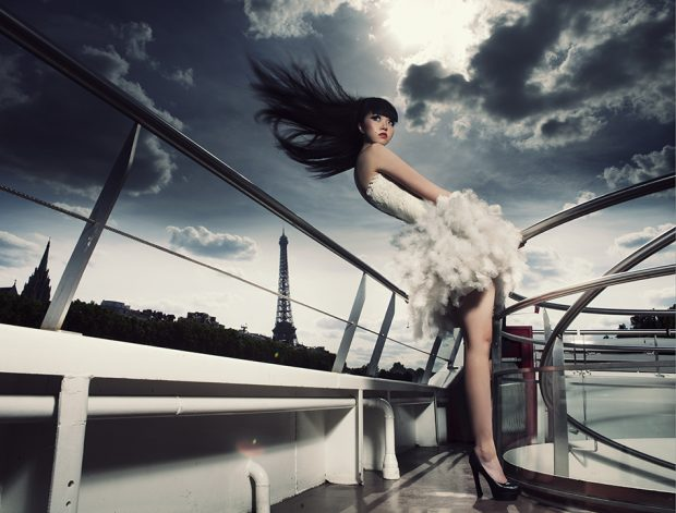 Jessica Minh Anh on top of Le Jean Bruel in Paris