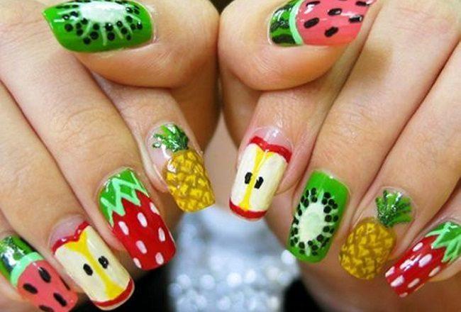 DIY Flirty Fruit Nail Designs for the Summer
