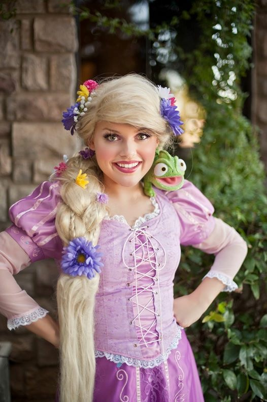 Princess Rapunzel at The Shops at Norterra's Valentine's Car Show