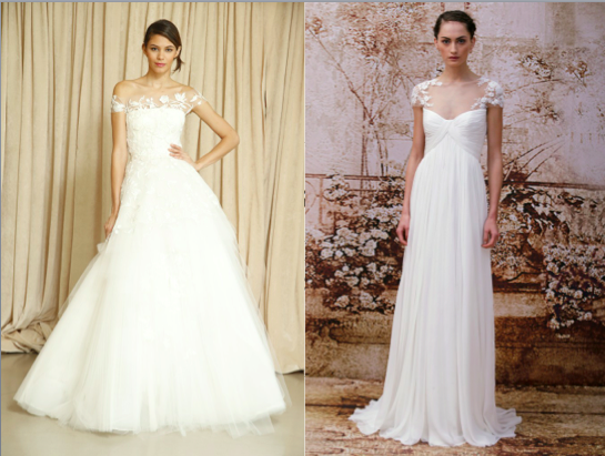 Fall 2014 Wedding Dress Trends Cap Sleeves