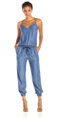 Splendid Women's Crossback Chambray Jumpsuit