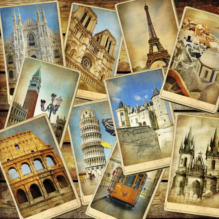 Travel in Europe background