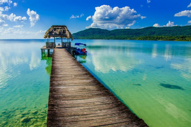 Beautiful pier at Lake Peten - Guatemala