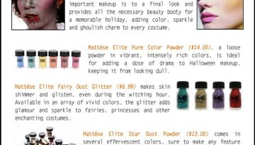Mattese Elite Makeup for a Fun or Scary Halloween Look