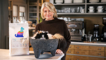 World's Smartest Cat Litter Brand, PrettyLitter, Partners with Martha Stewart