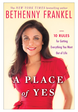 "Bethenny Frankel's New Book, ""A Place of Yes"" Hits Bookstores"