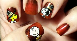 DIY Thanksgiving Nail Art