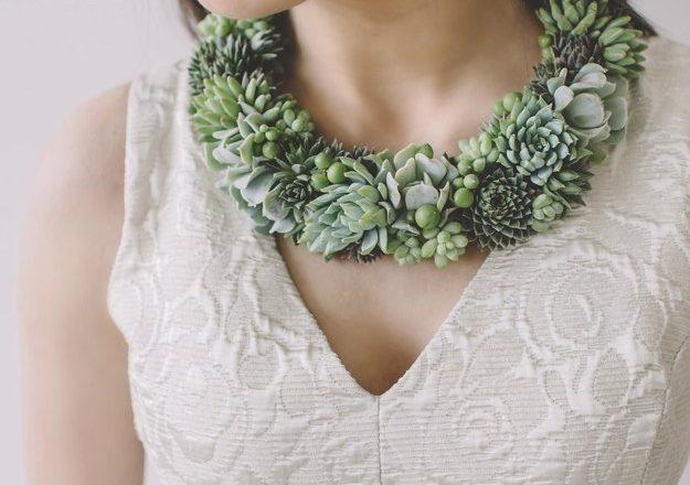 Newest Trend: Succulent Plant Jewelery