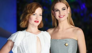 Celebs Don Glamorous Spring Gowns at the UK Cinderella Premiere