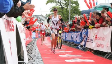 Race to the Finishline at Ironman Triathlon