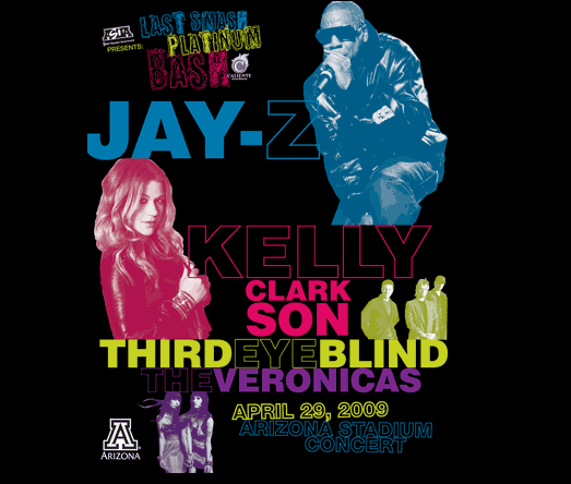 Jay-Z and Kelly Clarkson Perform at U of A