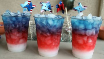 Red, White and Blue Cocktails for Independence Day