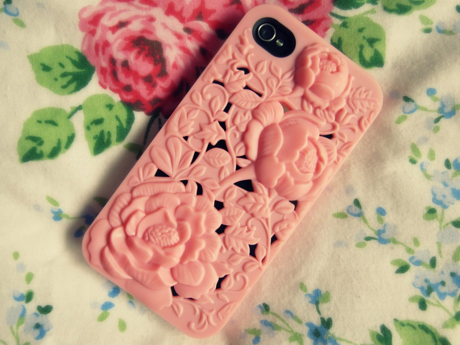 rose cut out flower vintage shabby chic pink iphone case ebay cheap 4 4s 5