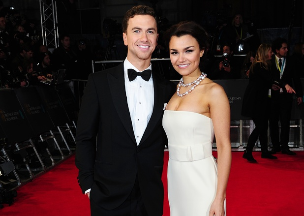 showbiz-richard-fleeshman-samantha-barks-baftas-2014-red-carpet