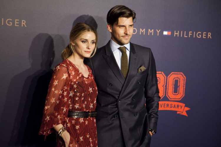 Olivia Palermo and Johannes Huebl on the red carpet for Tommy Hilfiger Fall 2015 Runway Show, Beijing, China, May 26, 2015.