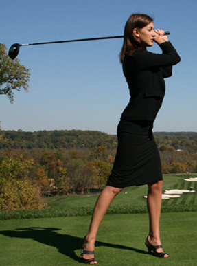 Clothing stores. Golf fashion women